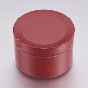 Round Aluminium Tin Cans, Aluminium Jar, Storage Containers for Cosmetic, Candles, Candies, with Slip-on Lid, Other Color, 5x3.4cm; Capacity: 40ml(1.35 fl. oz)(CON-L007-08B)