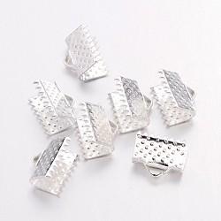 ruban de fer se termine, sans plomb, argent, environ 10 mm de large, 7 mm de long, trou: 2 mm(X-IFIN-E143Y-S)