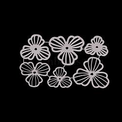 Matrices de découpe en métal, pour bricolage scrapbooking / album photo, carte de papier de bricolage décoratif, fleur, mat platine, 10.6x7.1mm(DIY-O006-15)