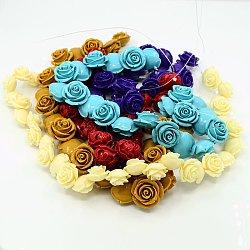 """Chapelets de perles de corail , teint, rose, couleur mixte, 20~25mm, trou: 1mm; environ 21 pcs/chapelet, 15.4""""(CORA-MSMC001-M1)"""