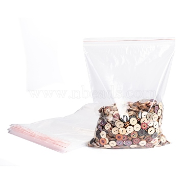 Plastic Zip Lock Bags, Resealable Packaging Bags, Top Seal, Self Seal Bag, Rectangle, Clear, 35x25cm; Unilateral Thickness: 0.05mm(OPP-Q002-25x35cm)