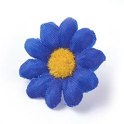 tournesol en tissu de soie, tête de fleur artificielle, pour la décoration de fête de mariage, bleu, 40x16~17 mm; diamètre intérieur: 2 mm(DIY-WH0134-A10)