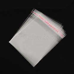 OPP sacs de cellophane, rectangle, clair, 10x8 cm, épaisseur unilatérale: 0.035 mm(OPC-R012-14)