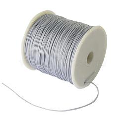 Fil de nylon tressé, gris clair, 0.8 mm; environ 100 mètres / rouleau (300 pieds / rouleau)(NWIR-R006-0.8mm-484)