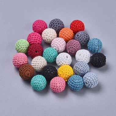 21mm Mixed Color Round Beads