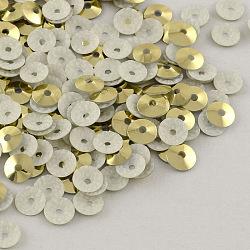cône perles de paillette forme en plastique, perles de paillettes, Darkkhaki, 4 mm, trou: 1 mm; environ 240000 pcs / 1000 g(PVC-R002-4mm-HF3014)