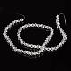 Half-Handmade Transparent Glass Beads Strands(X-GB4mmC01)-2