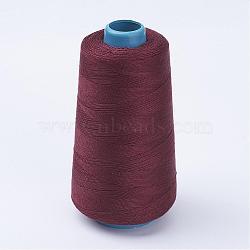Fil de coton, marron, 0.28 mm; environ 1600 m/rouleau(OCOR-WH0001-08)