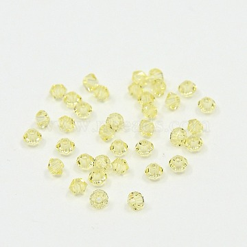 Austrian Crystal Beads, 5301 3mm, Bicone, Jonquil, Size: about 3mm long, 3mm wide, Hole: 0.8mm(5301-3mm213)