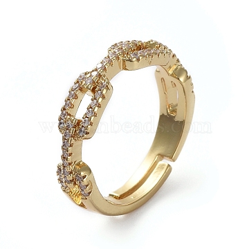 Clear Brass+Cubic Zirconia Finger Rings