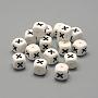 12mm Blanc Cube Silicone Perles(SIL-R001-X)