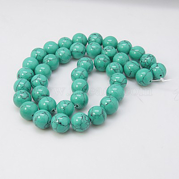 6mm DarkTurquoise Round Synthetic Turquoise Beads