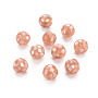 Resin Beads, with Natural Pink Shell, Round, Light Salmon, 8.5mm, Hole: 1mm