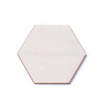 Wood Cabochons, Hexagon, BurlyWood, 8.5x9.5x2.5mm(WOOD-I004-55A)
