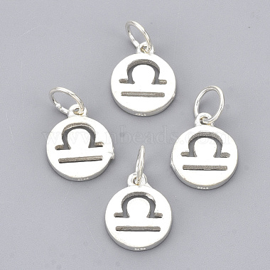 Silver Flat Round Sterling Silver Charms