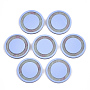 30mm CornflowerBlue Flat Round Resin Cabochons(X-CRES-S360-04)
