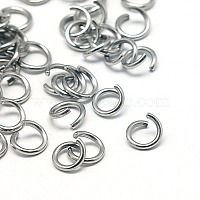 304 Stainless Steel Jump Rings, Metal Connectors for DIY Craft Jewelry and Keychain, 18 Gauge, 6x1mm, Inner Diameter: 4mm, 100pcs/10g