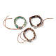Natural Mixed Stone Cord Beaded Bracelets(BJEW-E351-04)-1