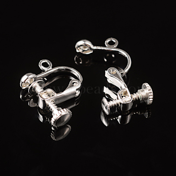 Silver Brass Earring Components