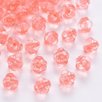 Transparent Acrylic Beads, Lantern, Light Coral, 8.5x10x9.5mm, Hole: 1.5mm, about 1290pcs/500g(TACR-S154-20A-52)