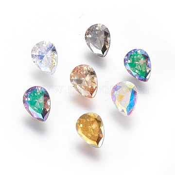 8mm Mixed Color Drop Cubic Zirconia Cabochons