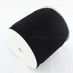 """3/16"""" Ruban de velours de simple face, noir, 3/16"""" (5.0 mm); environ 500 mètres / rouleau (457.2 m / rouleau)(OCOR-R019-5.0mm-003)"""