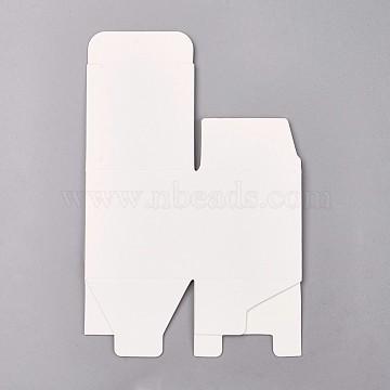 White Cuboid Paper Jewelry Box