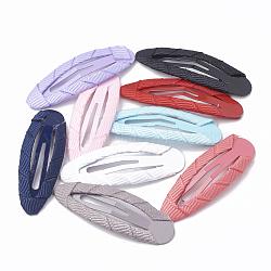 Accessoires pour cheveux pinces à cheveux, avec ruban gros-grain, couleur mixte, 46.5~47x15.5~16mm(PHAR-N003-M)