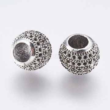 Antique Silver Rondelle Alloy Beads