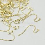 Golden Brass Earring Hooks(J0JQN-G)