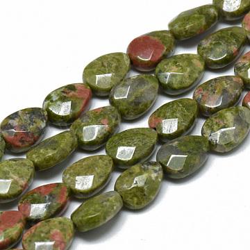 11mm Drop Unakite Beads