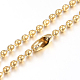 304 Stainless Steel Ball Chain Necklaces Making(X-MAK-I008-01G-A01)-1