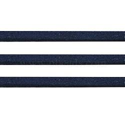 Bleu foncé en daim ton cordon, dentelle de faux suède, environ 1 m de long,  largeur de 2.5 mm, environ 1.4 mm d'épaisseur, 1 m / chapelet(X-LW14199Y)