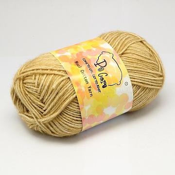 2mm LightKhaki Wool+Cotton Thread & Cord