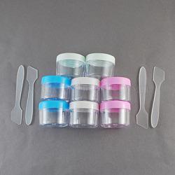 Contenants de cosmétiques, colonne, couleur mixte, 30x38 mm; diamètre intérieur: 30 mm, Profondeur intérieure: 25mm, capacité: 14 ml, 2 pièces / kit(CON-E22-M)