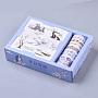 DIY альбом, декоративные клейкие ленты с картинными наклейками, мультяшный рисунок, cmешанный цвет, 10x10 см; 7 рулон и 9 листы / коробка