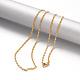 304 Stainless Steel Lumachina Chain Necklaces(NJEW-F195-03B-G)-2