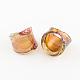 Handmade Gold Sand and Silver Foil Millefiori Lampwork Rings(RJEW-Q150-M05-B)-2