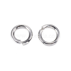 304 Stainless Steel Jump Rings, Close but Unsoldered Jump Rings, Stainless Steel Color, 6x1.2mm; Inner Diameter: 3.6mm; about 142pcs/20g(X-STAS-D448-100P-6mm)
