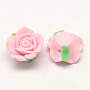15mm Pink Flower Polymer Clay Beads(CLAY-Q202-15mm-02)