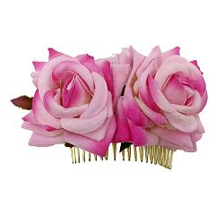 Peignes en fer, de velours fleur, camélia, 90x60mm(OHAR-Q280-01A)