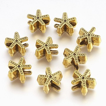 Antique Golden Star Alloy European Beads