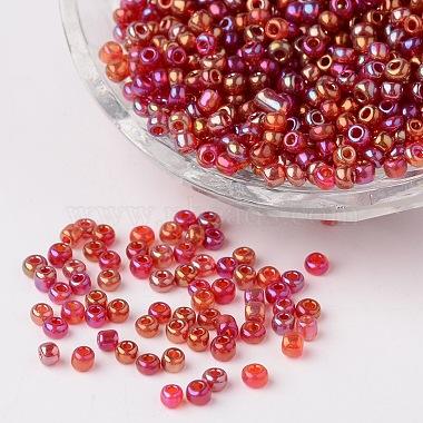 3mm Fuchsia Glass Beads