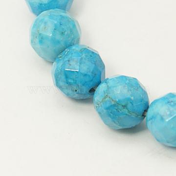 10mm Turquoise Round Howlite Beads