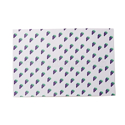 PU Leather Fabric, Garment Accessories, for DIY Crafts, Grape Pattern, WhiteSmoke, 30x20x0.1cm(DIY-L029-A01)