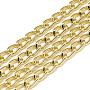 незакрепленные алюминиевые каркасные цепи, светлое золото, 8.2x5x1.4 мм; о 100 м / мешок