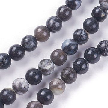 Natural Amazonite Beads Strands, Dyed, Round, 6~7mm, Hole: 1.2mm; about 58pcs/strand, 14.9inches~15.1inches(38~38.5cm)(G-L500-04-6mm)