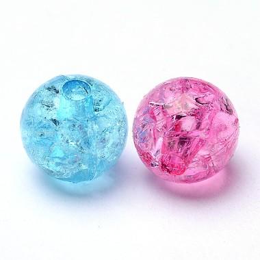 Transparent Crackle Acrylic Beads(CACR-R008-8mm-M)-2