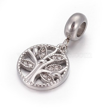 26mm Flat Round Stainless Steel Dangle Beads