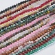 Natural Gemstone and Dyed Jade Beads Strands(G-G151-4mm-M2)-1